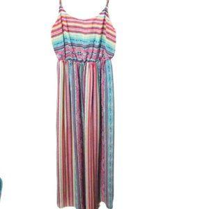 Love Reign Multicolored Sheer Maxi Dress